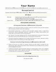 Sample Resume For Medical Receptionist Resume For Medical Receptionist Inspirational Medical Assistant 14