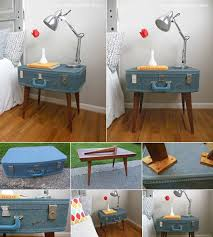 Suitcase Nightstand whattodowithold what to do with old suitcases 8838 by guidejewelry.us