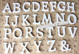 a z letters white wooden wood letters alphabet word decoration wedding decoration centerpieces wall decor words
