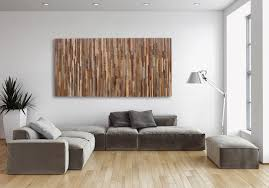 cozy design wall art ideas features stacked wooden wall decor and rectangle