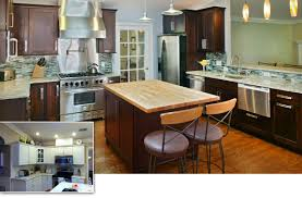 captivating kitchen remodel with refacing kitchen cabinets and barstools plus pendant