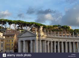 Cité Du Vatican Rome Italie La Place Saint Pierre Partie De La
