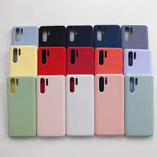 Pure Liquid Silicone Case For Huawei P30 /P30 Pro Soft Cover Sand Matte All  Inclusive Coverage Yellow Orange Pink Blue Green Phone Case & Covers  -  AliExpress