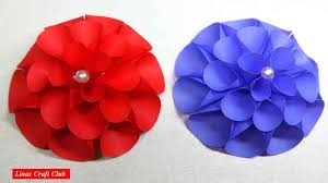 Dahlia Flower Making With Paper Diy Giant Dahlia Paper Flowers How To Make A Flower Wall