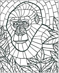 Monkey Pictures For Kids To Color Printable Monkey Color Pages