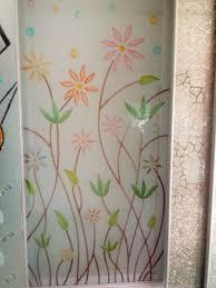 Flower Design Glass Door Colour Etching Design For Glass Wooden Glass Door Glass