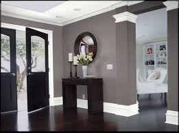 Dark wood, gray walls and white trim love the colors here. Dark wood, gray  walls and white trim love the colors here.