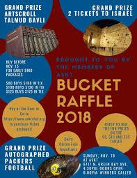 Raffle Event Askt Bucket Raffle Event Anshe Sfard Kehillat Torah
