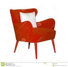 red modern chair isolated stock photo  image