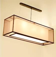 custom pendant lighting. chinese style iron double rectangular transparent sheepskin pendant lights custom square restauran lamps lighting