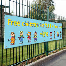 Free Childcare Advertising Free Childcare 2 3 4 Year Olds Here Pvc Banner