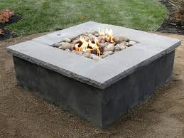 Square Outdoor Fire Pit Ideas Firepit Design Seating Living