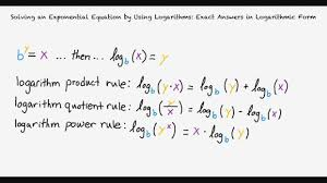 topic solving an exponential equation by using logarithms exact