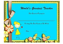 Teacher Appreciation Certificate Template Gift Powerbots Co