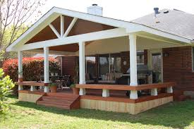 Wood Patio Designs Covered Roof Backyard Patios Creative Ideas Landscape Design