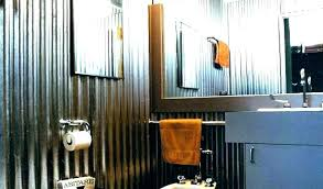 install tin walls in bathroom and galvanized shower inspiration corrugated