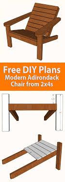 diy square adirondack chair plans
