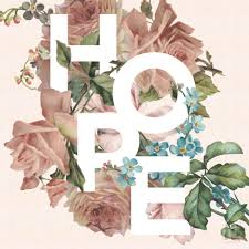 Project Word Design Hope A Floral Typography Project Flower Typography