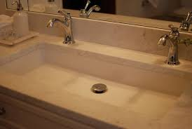 undermount trough sink. Undermount Long Sink With Two Faucets Nice Solution For Small Bathroom On Trough