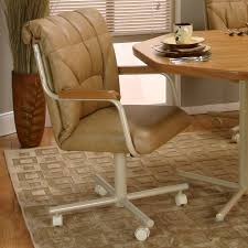 casual dining chairs with casters: upholstered dining chairs with casters rolling caster dining chair