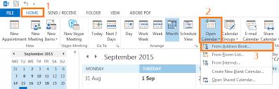 Calendar 2013 Through 2015 How Do I Add A Shared Calendar In Outlook Windows