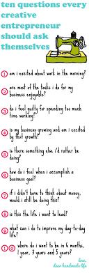 ten questions every entrepreneur should ask themselves dear ten questions every creative entrepreneur should ask themselves