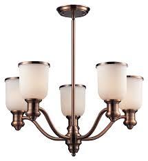 elk 66183 5 brooksdale 25 inch diameter 5 lamp antique copper chandelier lamp loading zoom