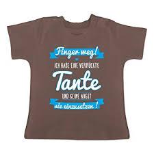 Sprüche Baby Ich Habe Eine Verrückte Tante Blau Baby T Shirt Kurzarm