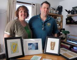 ogham art founders christopher and colleen conway of southington design custom jewelry stationary tattoos