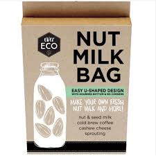 make your own fresh nut and seed milk cold brew coffee cashew cheese and sprouting seeds with this versatile u shaped nut millk bag