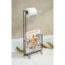 Toilet Roll Holder Magazine Rack Extraordinary InterDesign Classico Toilet Paper Roll Holder With Magazine Rack