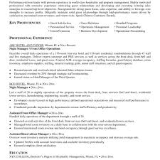 Resume Examples For Hospitality Industry Classy Resumes Hospitality Industry For Your Sample Curriculum Vitae 44