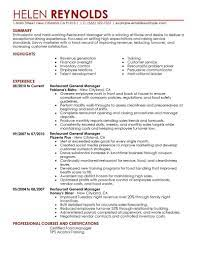 How to write a cv. Best Restaurant Manager Resume Example Livecareer