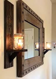 rustic wall sconce candle holder mason jar krohndesigns with pertaining to unique sconces holders ideas 9