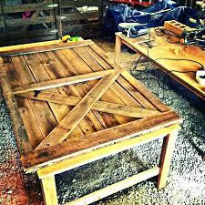 barn door coffee table diy desk m creations cloth doors ont design tables legs ideas patrol diy barn door end table