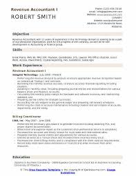 Objective Accounting Resumes Revenue Accountant Resume Samples Qwikresume