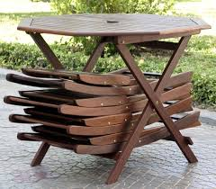 5pc outdoor wood folding patio dining set review