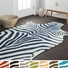 zebra area rug. Hand-hooked Indoor/ Outdoor Zebra Patio Area Rug - 5\u0026#x27;