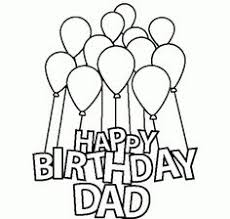 Small Picture Funny Card Happy Birthday Dad coloring page for kids holiday