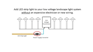 installing led strip lights with your low voltage landscape light system you