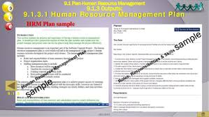 project human resources management pmbok th 1 oso a2013 52 hrm plan sample 9 1 plan human resource