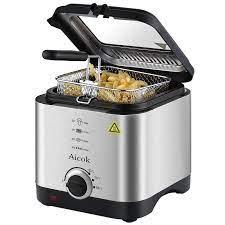 Elektrikli Mini fritöz Akıllı Ev Fritöz Büyük Kapasiteli yağsız patates  kızartma makinesi 1.5L|Elektrikli Fritözler