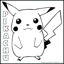 Pokemon Pikachu Coloring Pages Free Colouring Kids Of Pa
