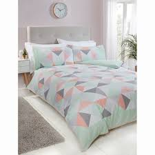 on image to enlarge description returns in geo triangles king duvet cover
