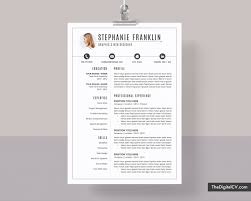 Clean Resume Template For Job Application 2019 2020 Cv Template Cover Letter 1 3 Page Ms Word Resume Modern Creative Resume Professional