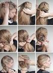 Вечерняя простая прическа на средние волосы