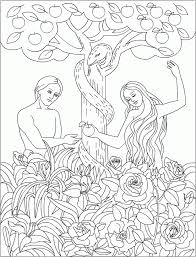 Small Picture Adam And Eve Coloring Pages For Toddlers Apigramcom