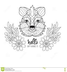 Small Picture Trendy Design Quokka Animal Coloring Pages Hand Drawn Doodle