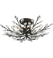 elk lighting 11772 6 crystal branches burnt bronze 24 inch 6 light semi undefined