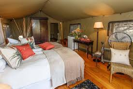luxury tent at chandelier game lodge